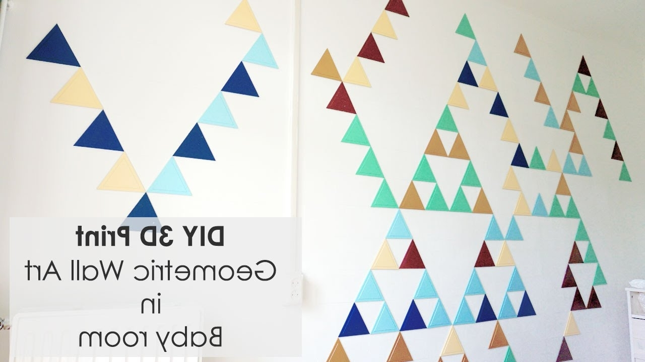 Newest Creating Geometric Wall Art With 3D Triangles – Youtube Throughout 3D Triangle Wall Art (View 10 of 15)