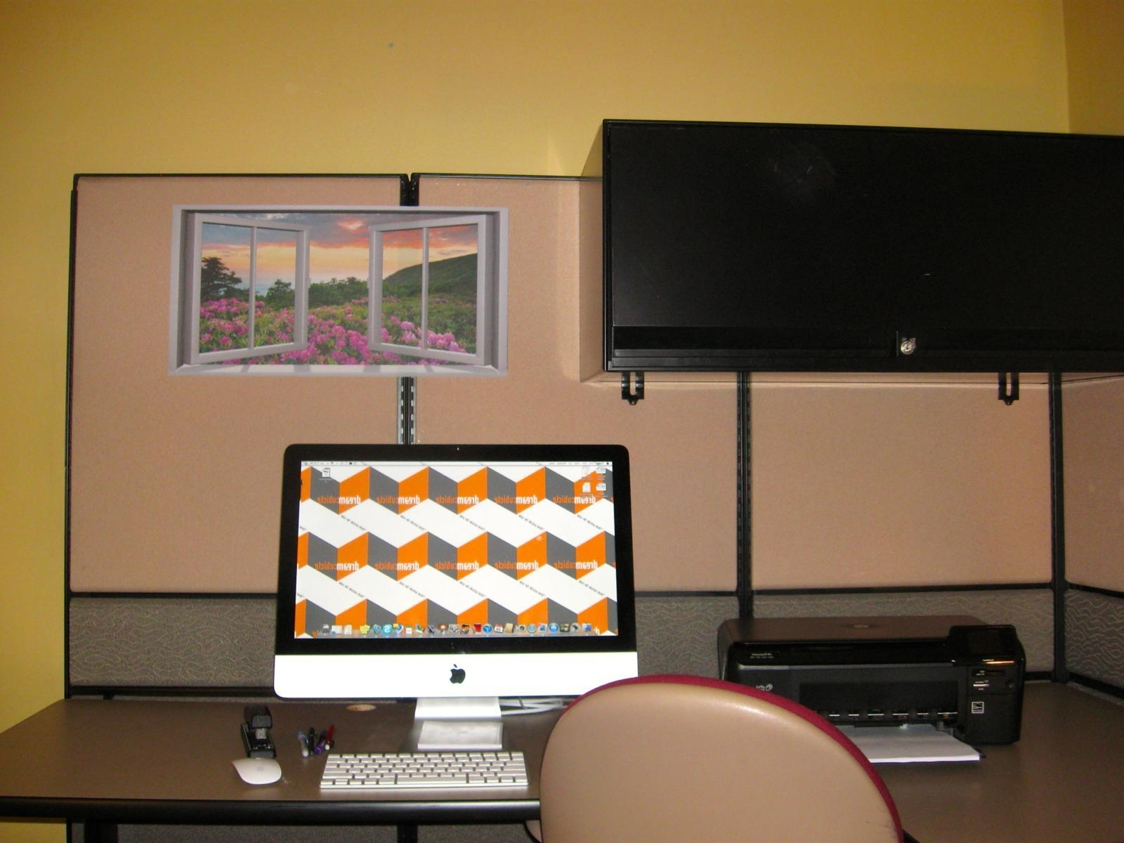 Newest Cubicle Wall Art Pertaining To Attaching Wall Art Your Cubicle Makeover Window In Main ~ Loversiq (View 12 of 15)