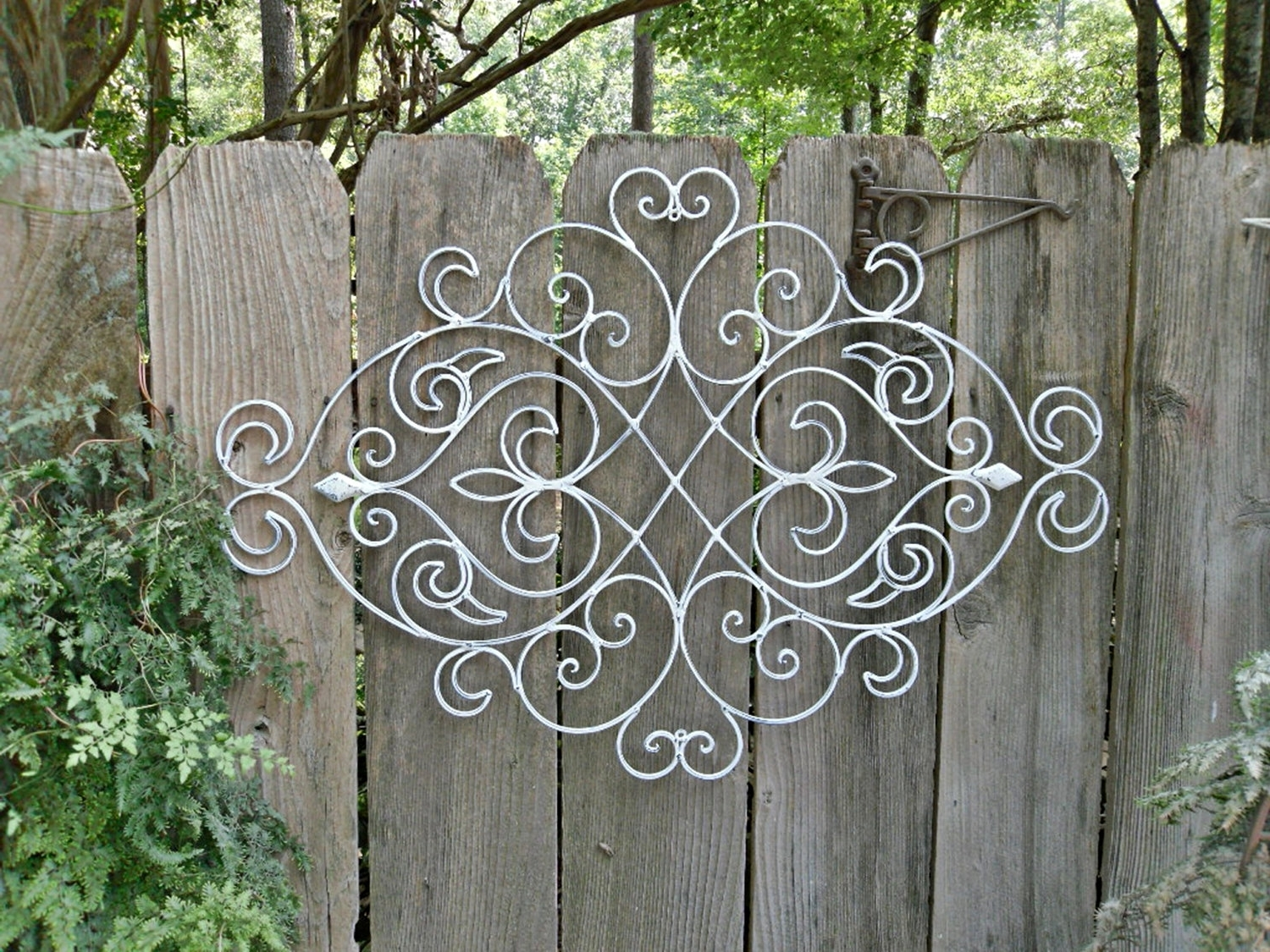 Newest Discount Outdoor Metal Wall Art Decor — Joanne Russo Homesjoanne Regarding Metal Gate Wall Art (View 13 of 15)