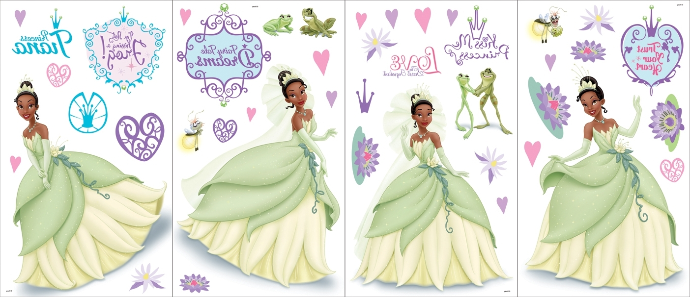 Newest Disney Princess Wall Art For Disney Princess & The Frog – Self Stick Wall Art (View 10 of 15)