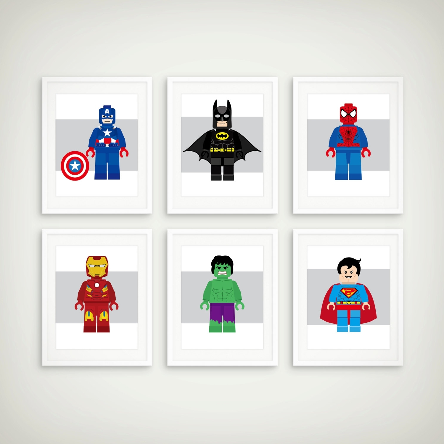 Newest Etsy Childrens Wall Art For Popular Items For Boys Decor On Etsy Superhero Art Print Set (Gallery 15 of 15)