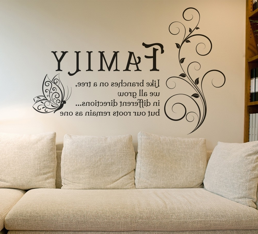 Newest Family Photo Wall Art With Regard To Family Tree Branches Wall Art Sticker Decals (View 2 of 15)