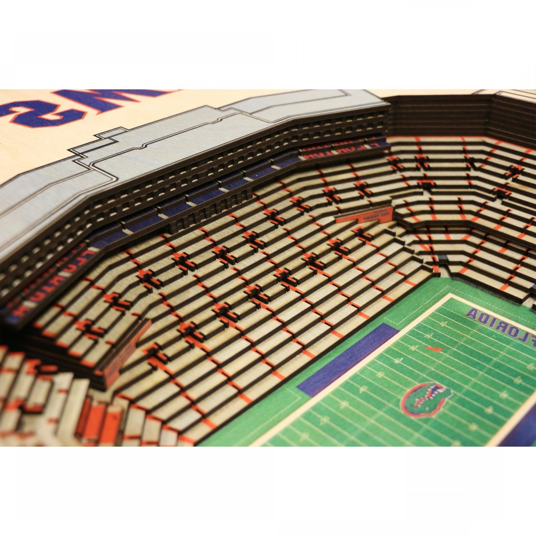 Newest Florida Gators Stadiumview Wall Art – Ben Hill Griffin Stadium 3 D Pertaining To Florida Gator Wall Art (Gallery 6 of 15)