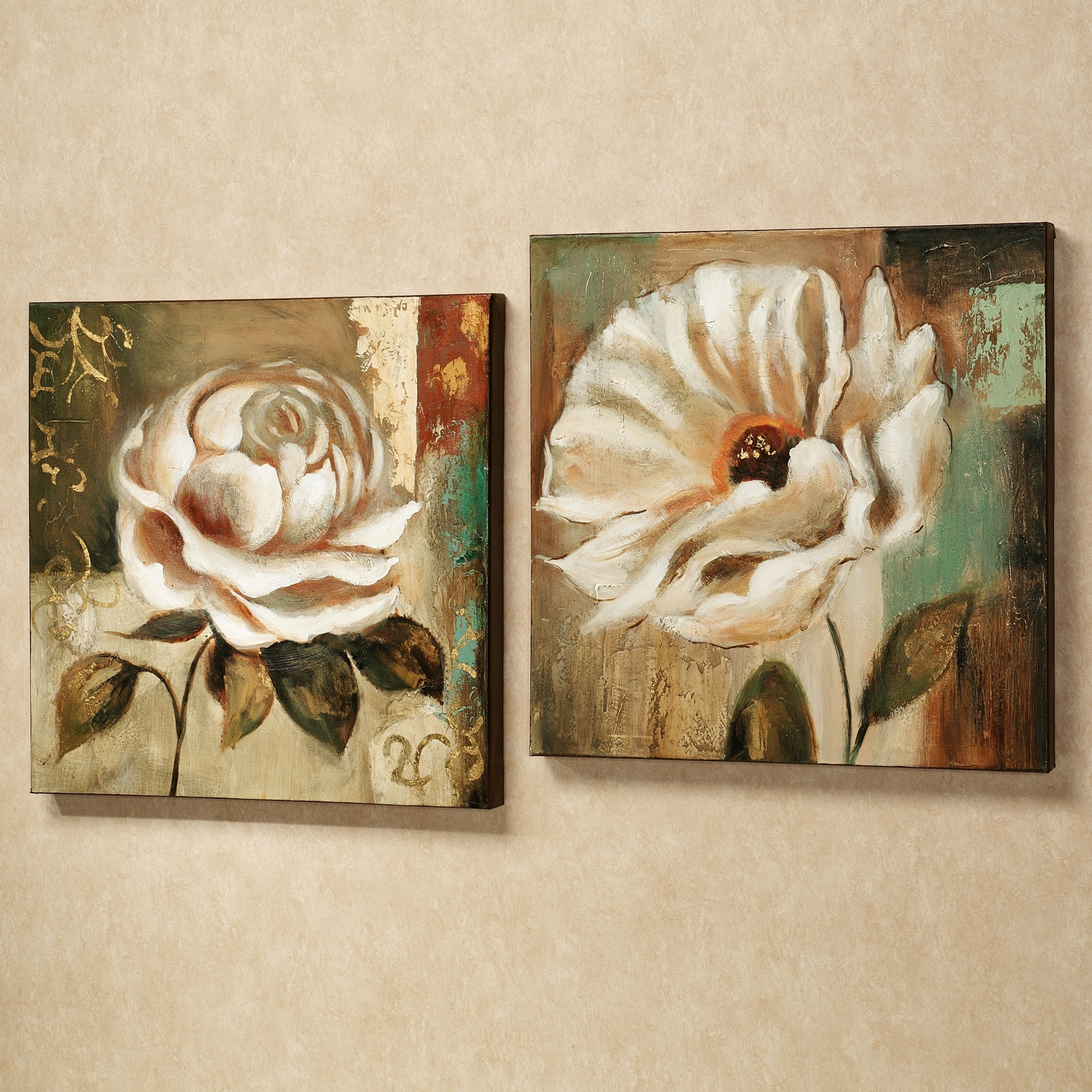 Newest Flower Wall Art Canvas Within Garden Delicacies Floral Canvas Wall Art Set (Gallery 3 of 15)