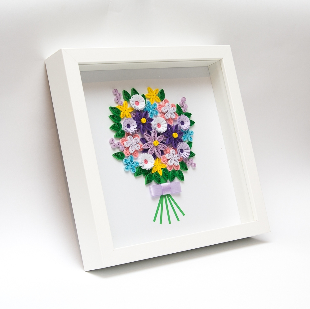 Newest Framed 3D Wall Art For Unusual Framed Paper Art Quilling Quilled Flowers 3D Wall Art (View 14 of 15)