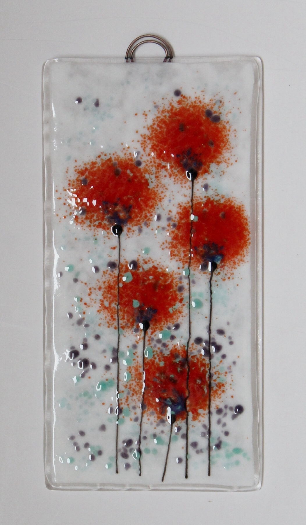Newest Fused Glass Flower Wall Art Intended For Fused Glass Wall Plaque Panel (View 5 of 15)