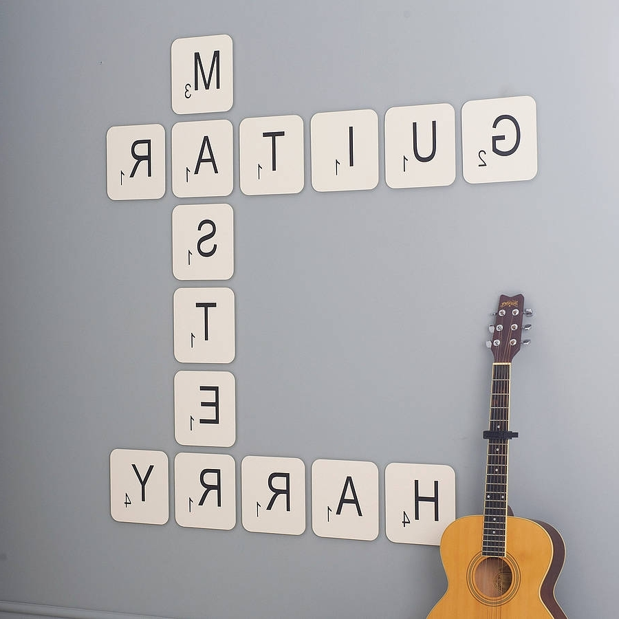 Newest Give Your Walls A Handpainted Look With Wall Letters – Tcg Intended For Scrabble Letters Wall Art (View 7 of 15)