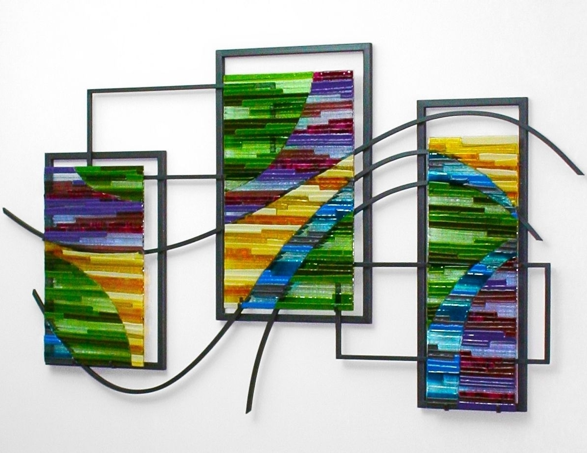 Featured Photo of Large Fused Glass Wall Art