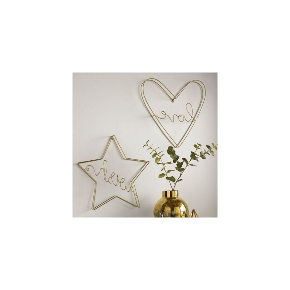 Newest Graham & Brown Gold Metal Amour Love Heart Wall Art 104032 With Regard To Graham & Brown Wall Art (View 11 of 15)