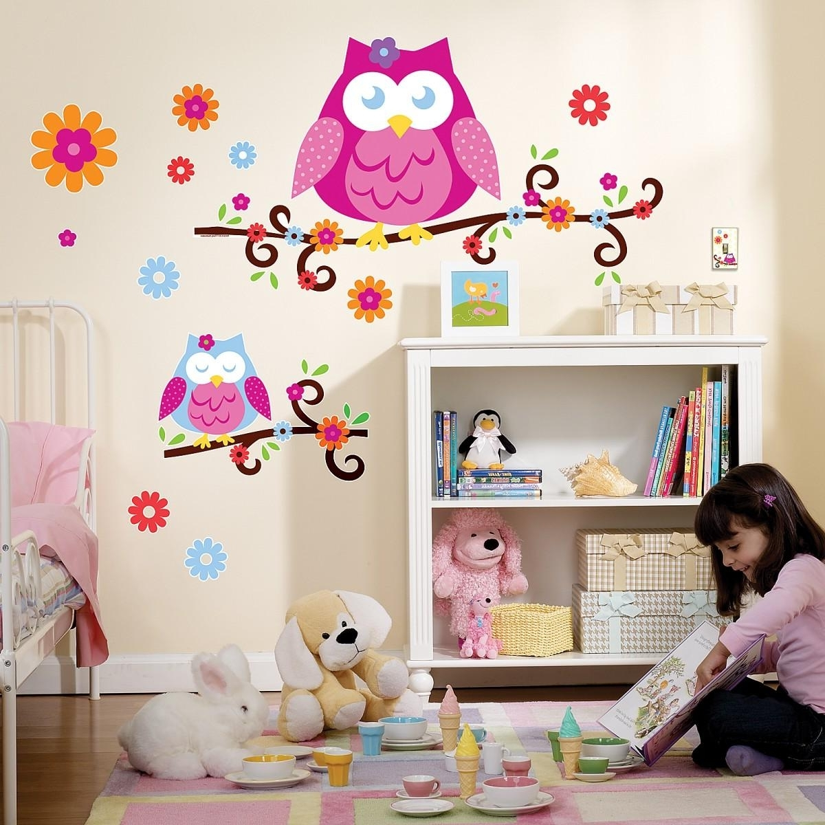 Newest Kohls Wall Decals Within Wall Decals : Trendy Colors Owl Wall Decals 117 Owl Wall Stickers (View 15 of 15)