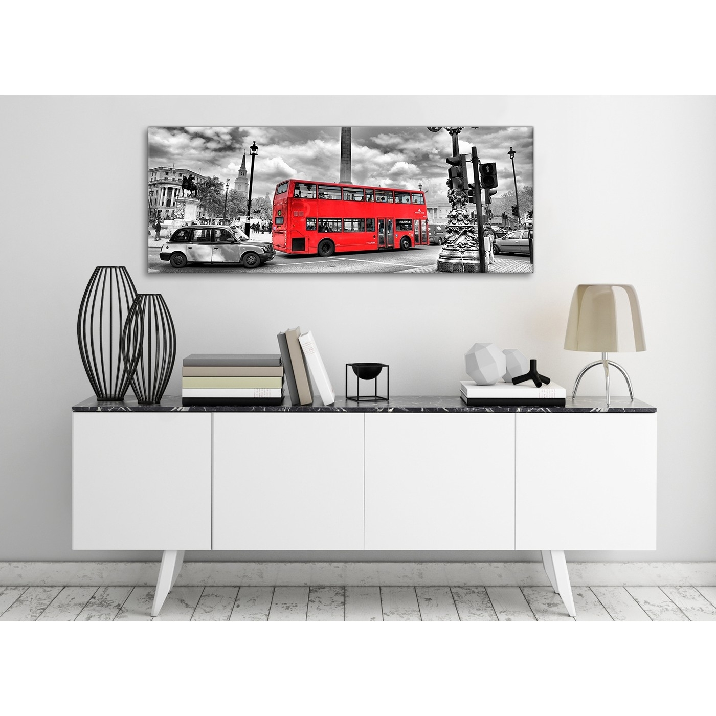 Newest London Scene Wall Art Regarding Red London Bus – Street Scene Cityscape Bedroom Canvas Pictures (View 12 of 15)
