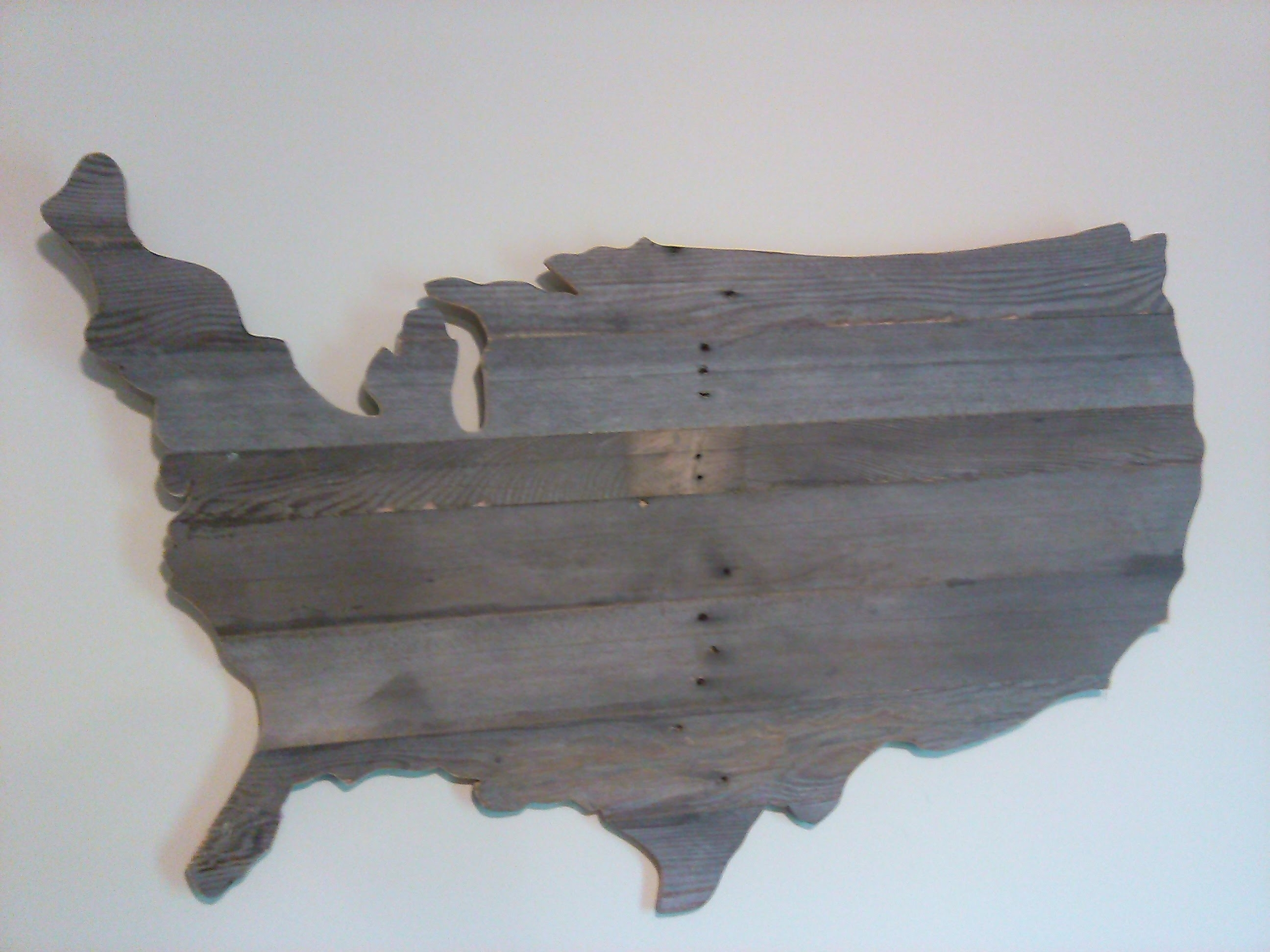 Newest Maps For Wall Art Intended For How To Make A Wooden Usa Map Wall Art Out Of Pallets – Youtube (View 4 of 15)
