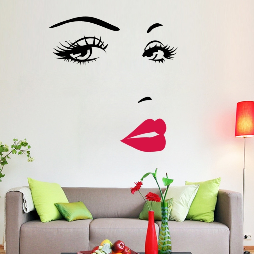 Newest Marilyn Monroe Quotes Lips Vinyl Wall Stickers Art Mural Home Intended For Marilyn Monroe Wall Art Quotes (View 11 of 15)