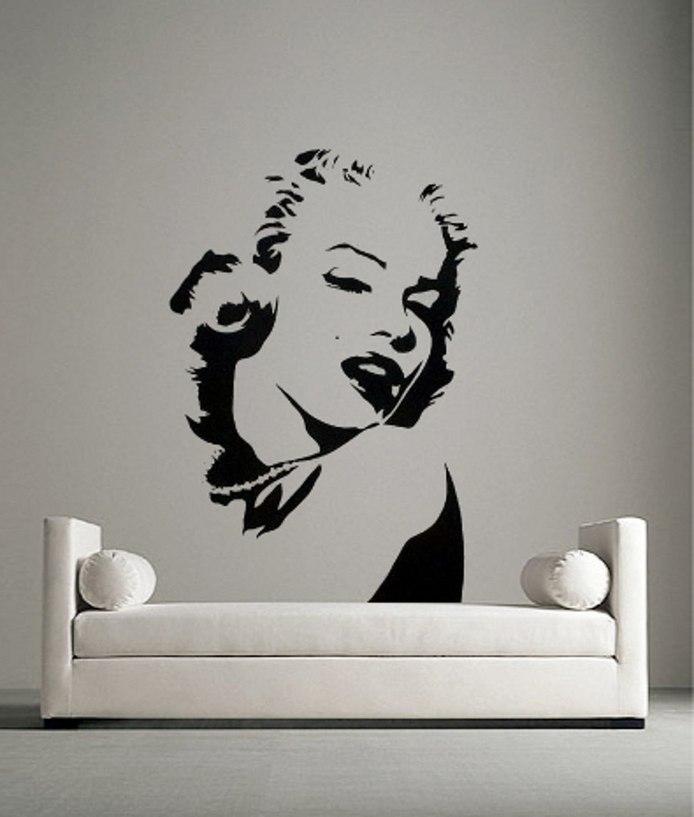 Newest Marilyn Monroe Wall Art Pertaining To Marilyn Monroe Portrait Vinyl Wall  Art Sticker Decal Bedroom