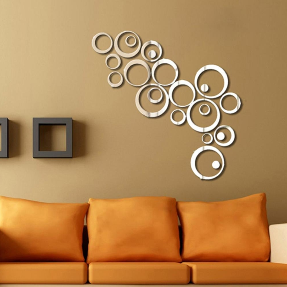 Newest Mirror Circles Wall Art Pertaining To Cheap Stickers Rx8, Buy Quality Sticker Home Directly From China (View 2 of 15)