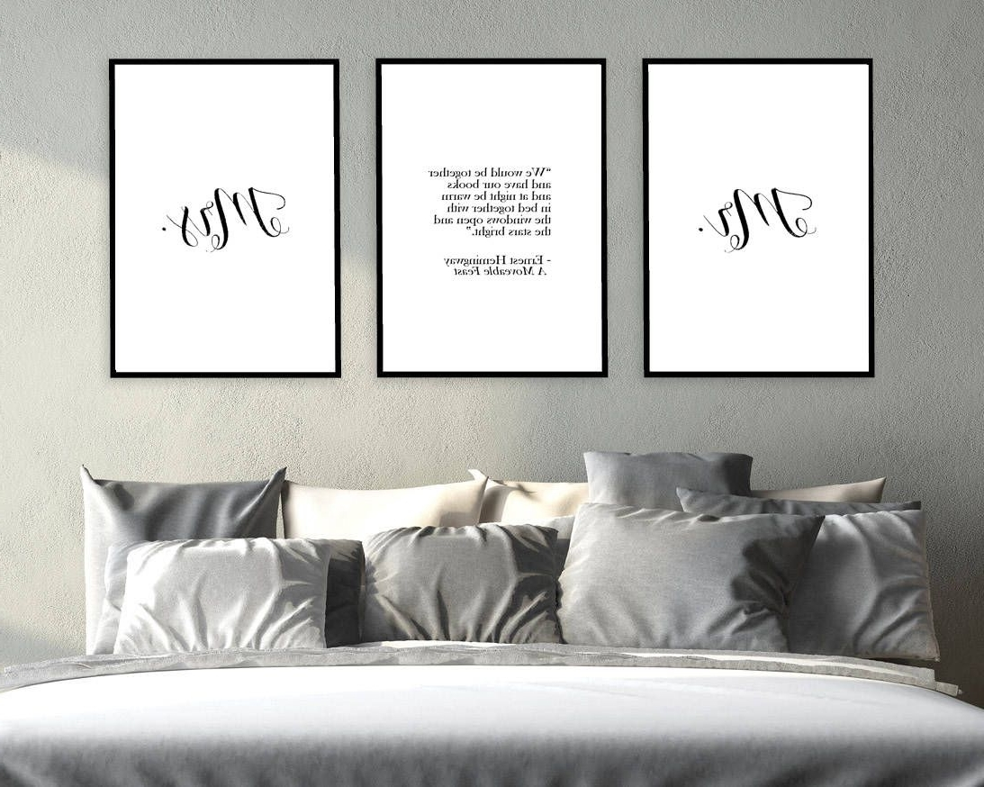 Newest Mr And Mrs Wall Art Within Mr And Mrs Wall Art Prints, Set Of Three Wall Art, Ernest (Gallery 9 of 15)