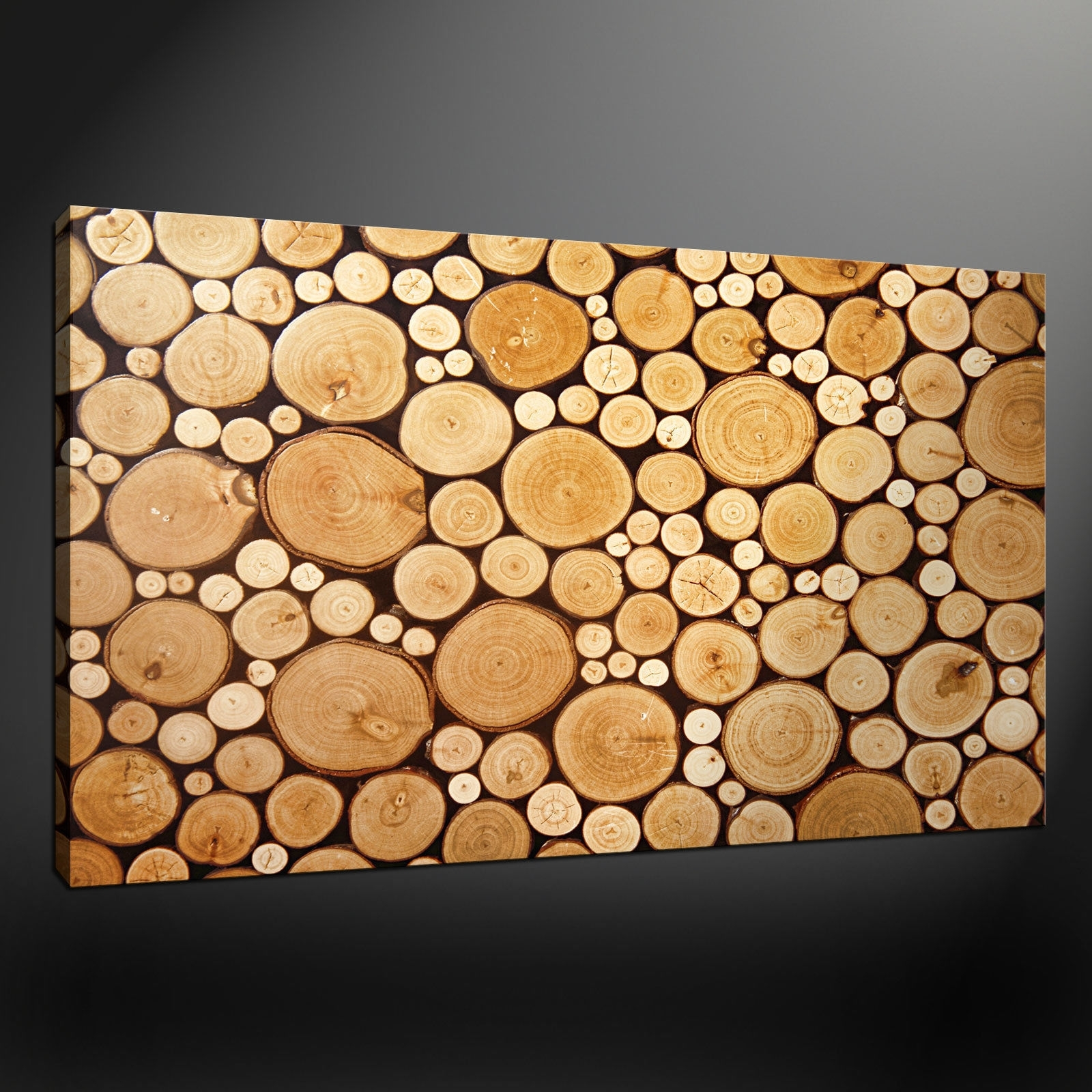 Newest Noble Wood Logs Box Canvas Print Wall Art Design Free N Wall Art Inside Uk Contemporary Wall Art (View 6 of 15)