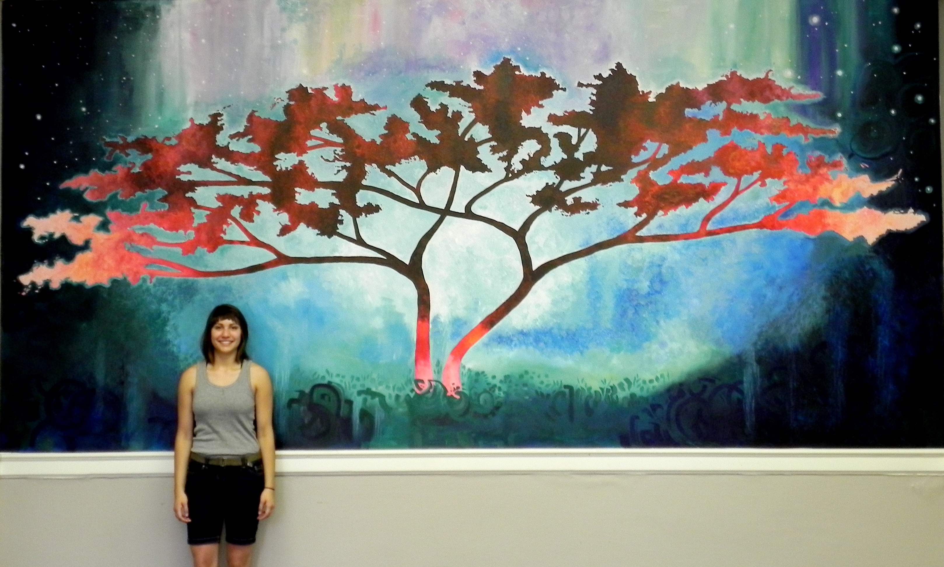 """Newest Oneness"""" Painted Wall Mural – Regarding Abstract Nature Wall Art (View 12 of 15)"""