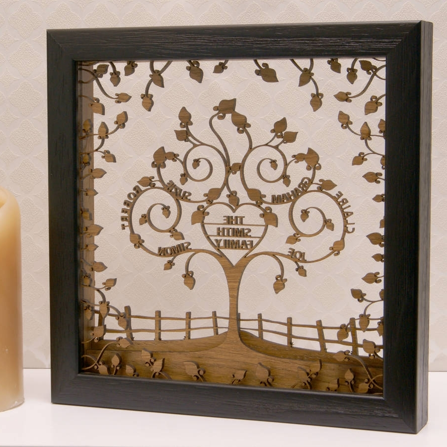 Newest Personalised Wooden 3D Heart Family Tree Wall Arturban Twist For 3D Tree Wall Art (View 11 of 15)