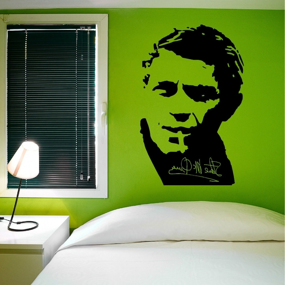 Newest Removable Wall Decal Steve Mcqueen Vinyl Wall Art Sticker Famous Inside Steve Mcqueen Wall Art (View 3 of 15)