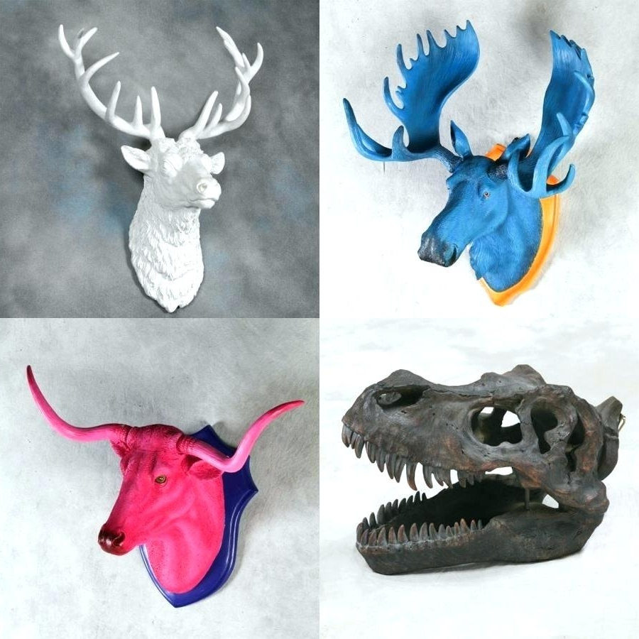 Featured Photo of Resin Animal Heads Wall Art