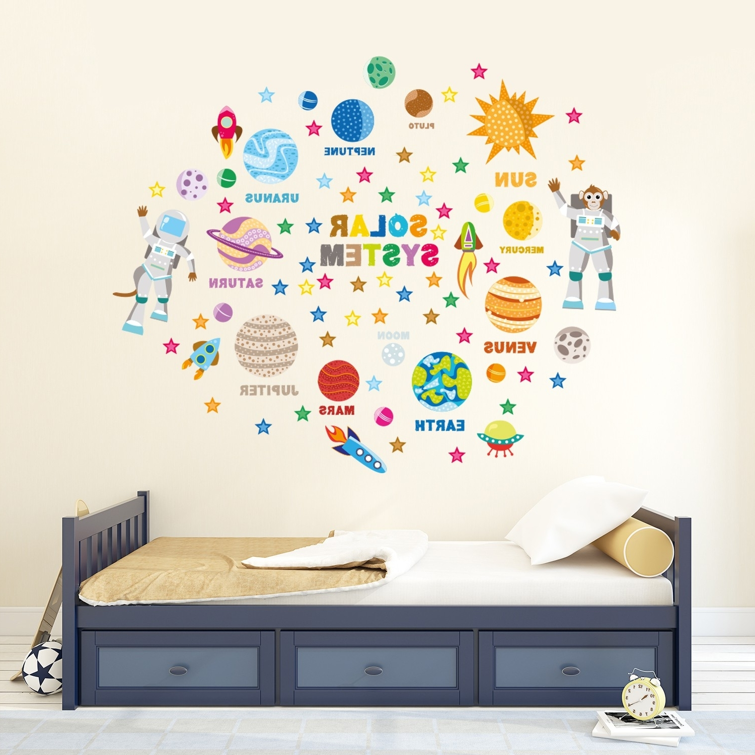 Newest Solar System Wall Art Intended For Wall Stickers Uk – Wall Art Stickers – Kitchen Wall Stickers (View 5 of 15)
