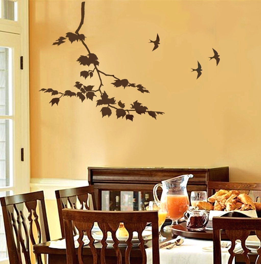 Newest Stencil Wall Art With Regard To Wall Arts ~ Decorative Wall Stencils Home Decor And Design (View 7 of 15)