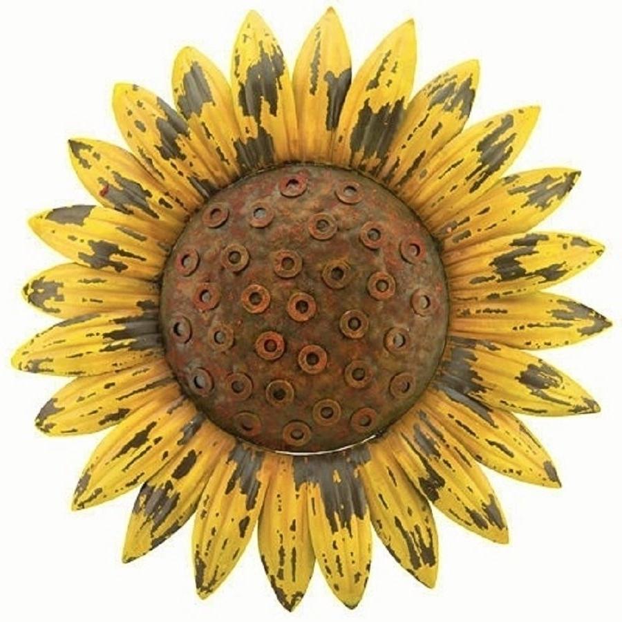 Newest Sunflower Giant Rustic Flower Wall Art Metal Garden Cottage Chic Regarding Metal Sunflower Yard Art (View 10 of 15)