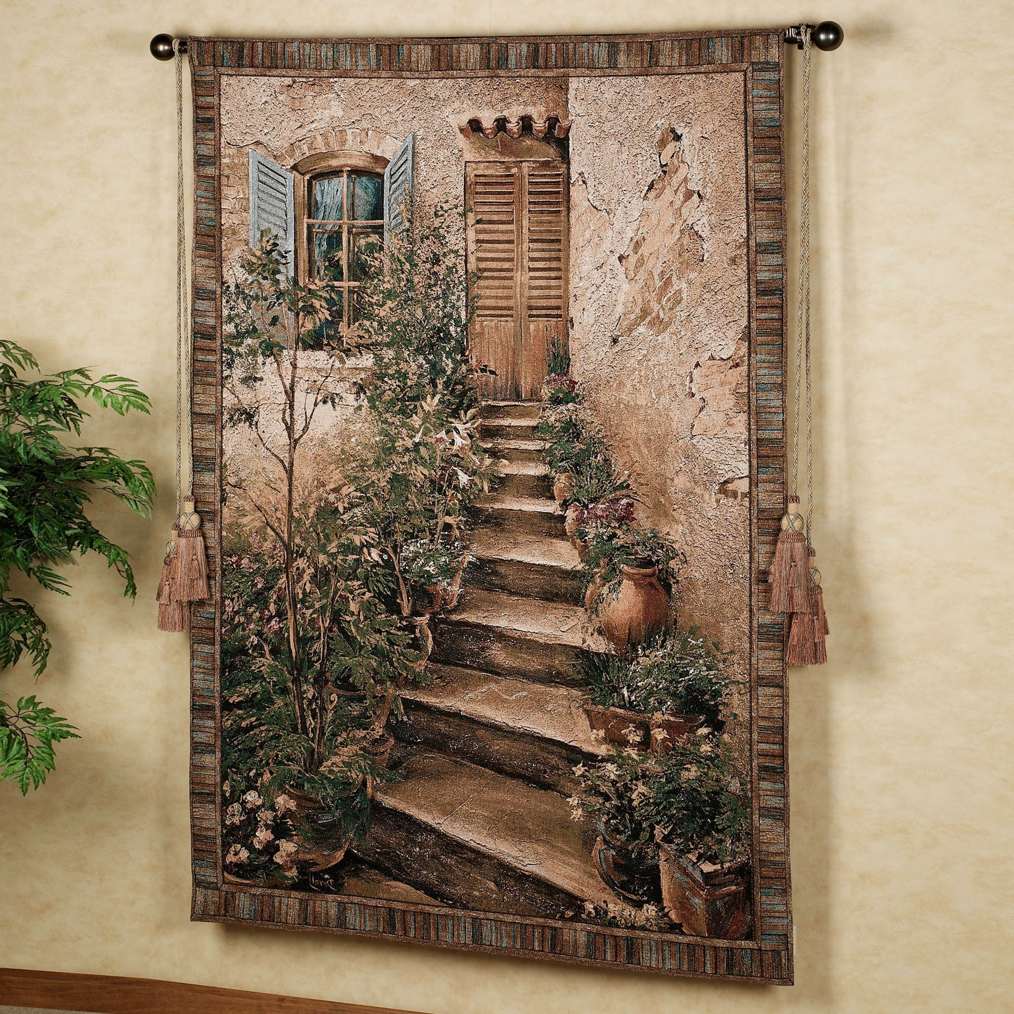 Newest Tuscan Wall Art Decor Throughout Tuscan Villa Ii Wall Tapestry (View 13 of 15)
