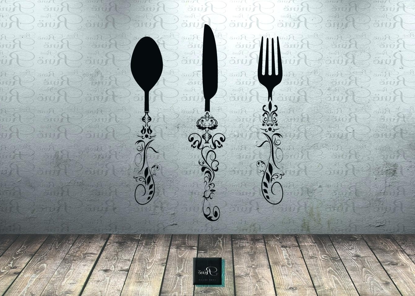 Newest Utensil Wall Art Intended For Kitchen Wall Art Decals – Gutesleben (View 4 of 15)