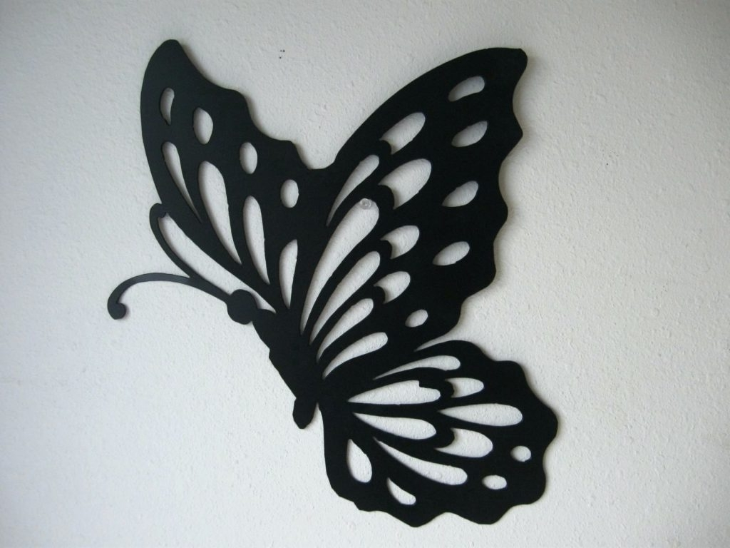 Newest Wall Arts ~ Metal Butterfly Wall Art Trio 3D Butterfly Metal With Large Metal Butterfly Wall Art (View 7 of 15)