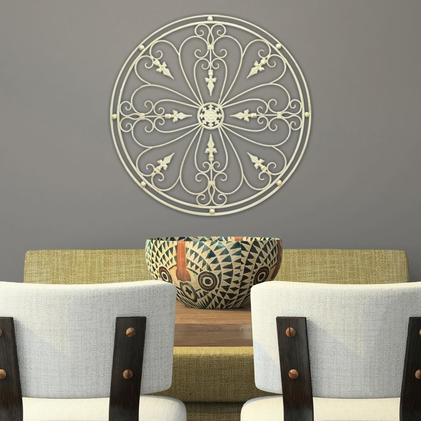 Newest White Medallion Wall Decor With Regard To White Medallion Wall Art (Gallery 7 of 15)