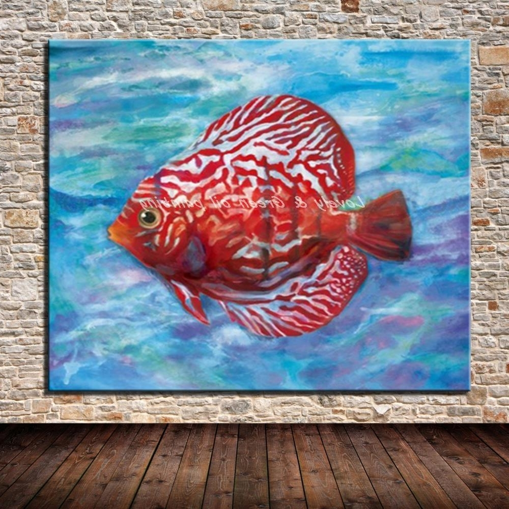 [%No Framed Picture 100% Hand Painted Modern Abstract Fish Oil For Latest Abstract Fish Wall Art|Abstract Fish Wall Art Inside Popular No Framed Picture 100% Hand Painted Modern Abstract Fish Oil|2017 Abstract Fish Wall Art Throughout No Framed Picture 100% Hand Painted Modern Abstract Fish Oil|Best And Newest No Framed Picture 100% Hand Painted Modern Abstract Fish Oil In Abstract Fish Wall Art%] (View 7 of 15)