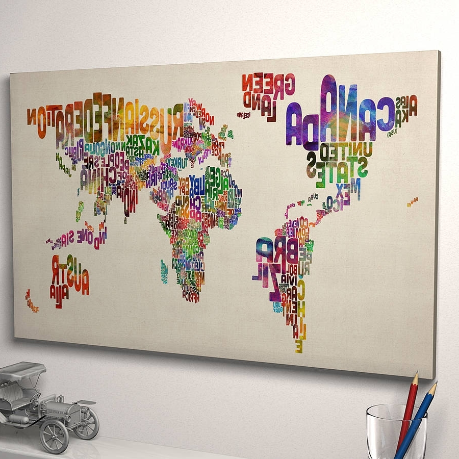 Notonthehighstreet Pertaining To Typography Canvas Wall Art (View 10 of 15)