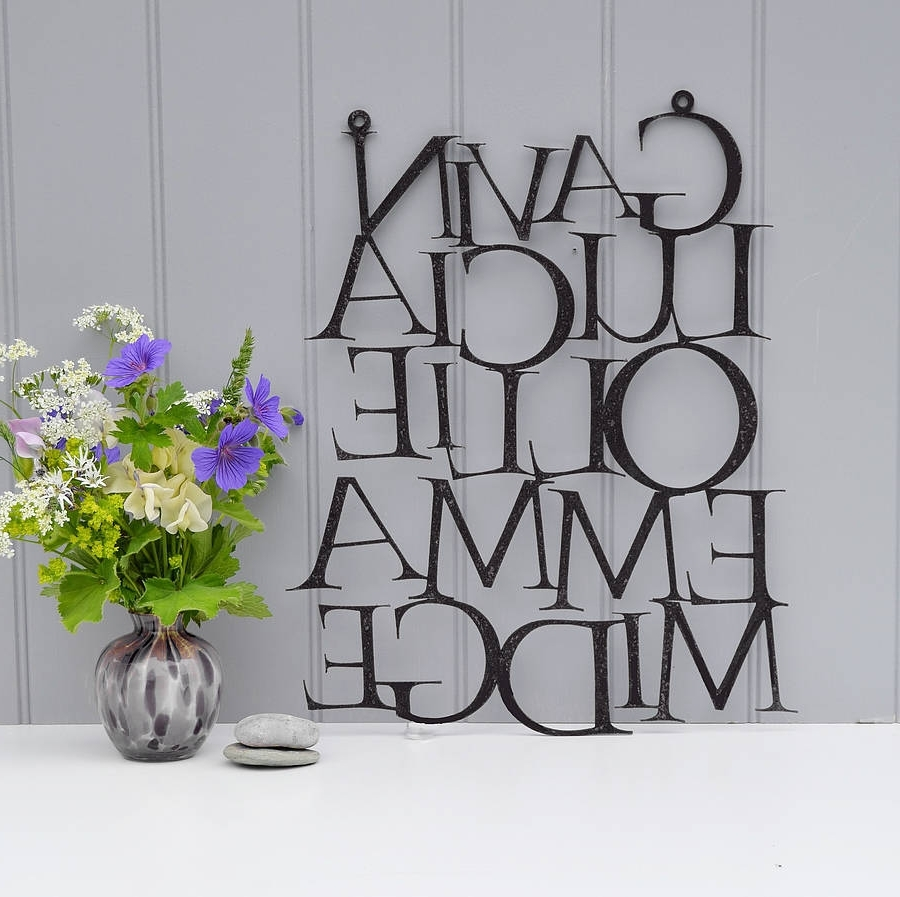 Notonthehighstreet Within Personalized Family Wall Art (Gallery 2 of 15)