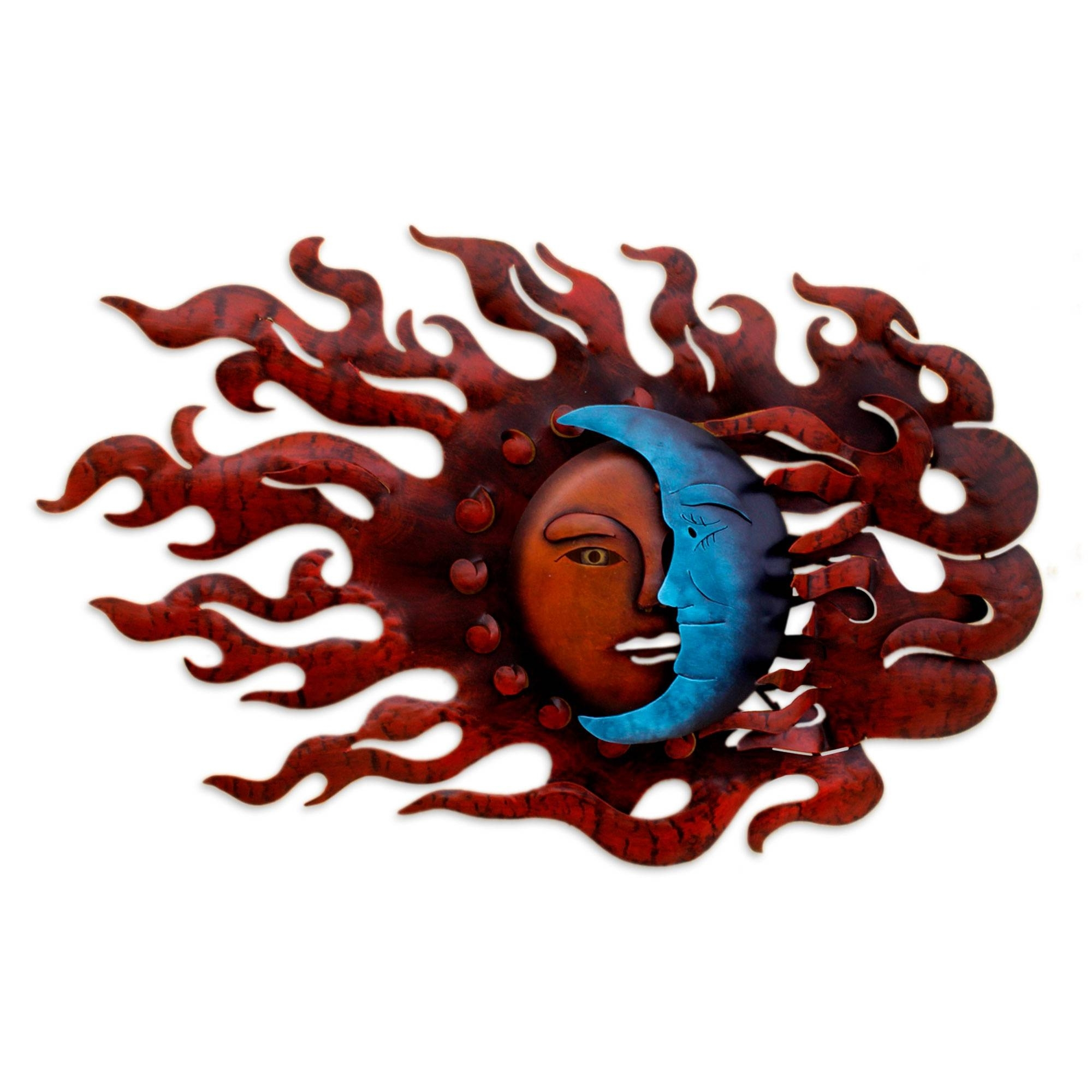 Novica With Newest Sun And Moon Metal Wall Art (Gallery 2 of 15)