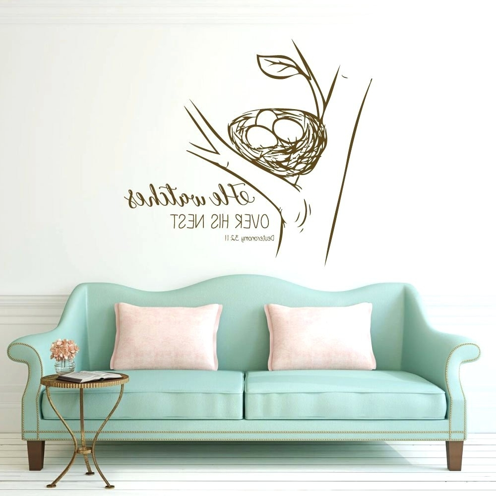 Nursery Bible Verses Wall Decals Inside Widely Used Wall Arts ~ Scripture Wall Decal As For Me And My House Bible (View 9 of 15)