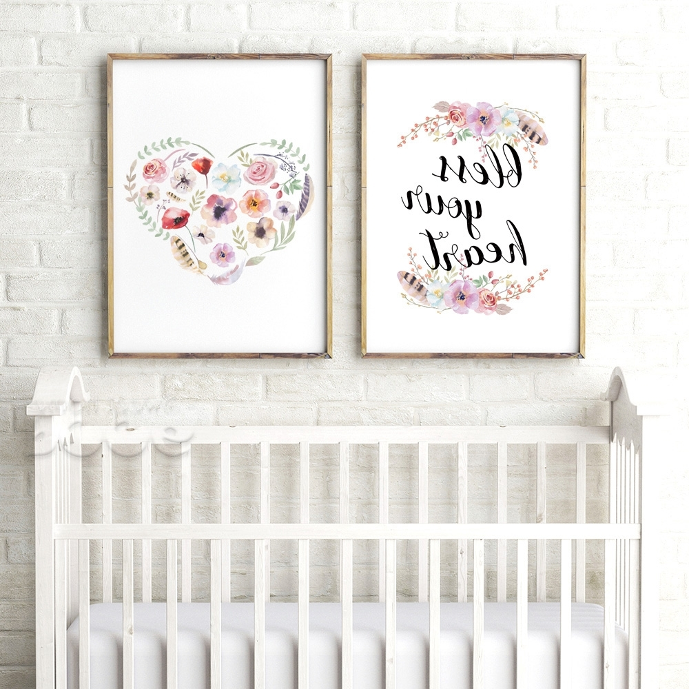 Nursery Canvas Art Throughout Most Popular Bible Verse Canvas Art Print Poster, Wall Decoration Nursery Bible (Gallery 11 of 15)