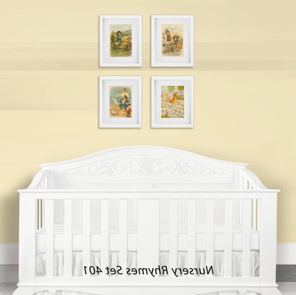 Nursery Framed Wall Art Inside Latest Nursery Wall Art Print Set, Children's Nursery Rhymes, Baby Shower (Gallery 3 of 15)