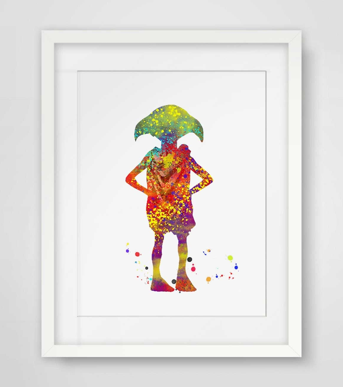 Nursery Wall Art With Regard To Newest Dobby Watercolor Wall Art Harry Potter Art Print Elf Nursery Gift (View 11 of 15)