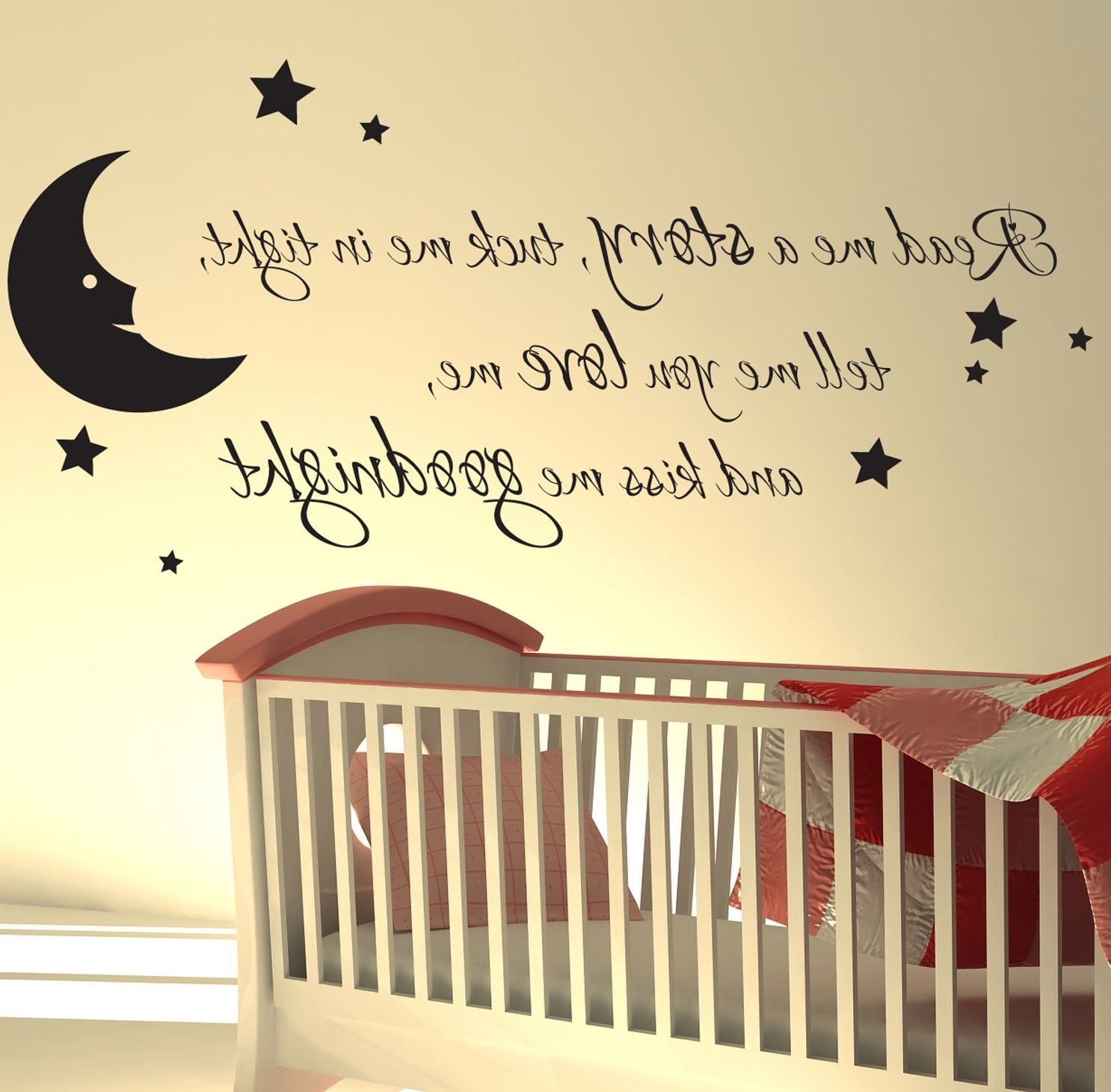 Nursery Wall Sticker Read Me A Story Kids Art Decals Quotes W47 Intended For Widely Used Winnie The Pooh Vinyl Wall Art (View 8 of 15)
