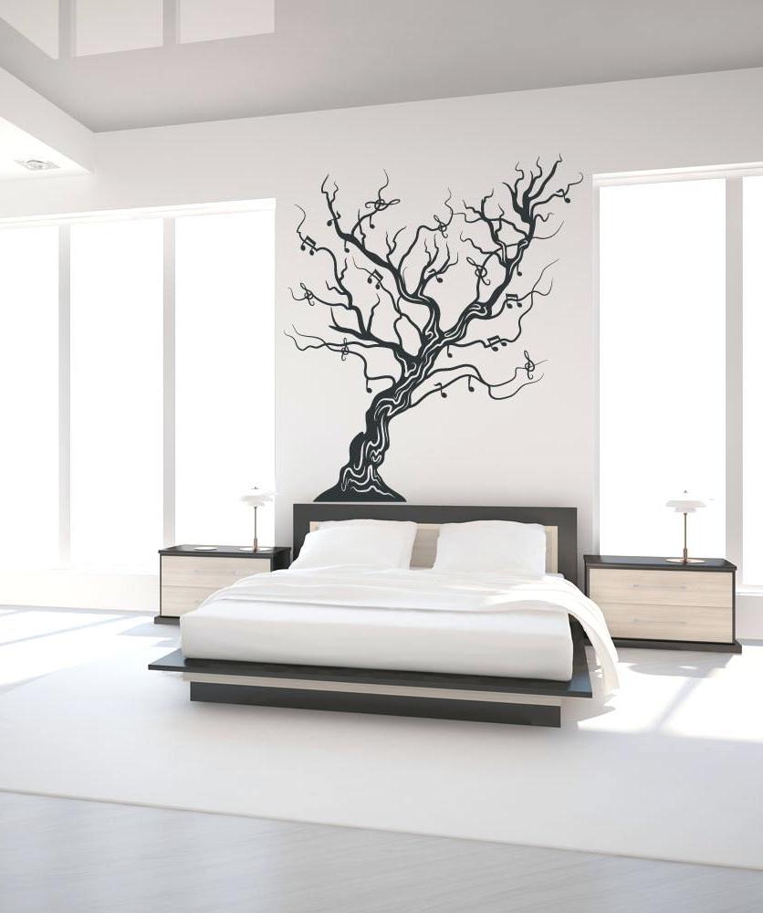 Oak Tree Vinyl Wall Art In Popular Tree Wall Mural Decal Vinyl Wall Decal Sticker Art Oak Tree And (Gallery 10 of 15)