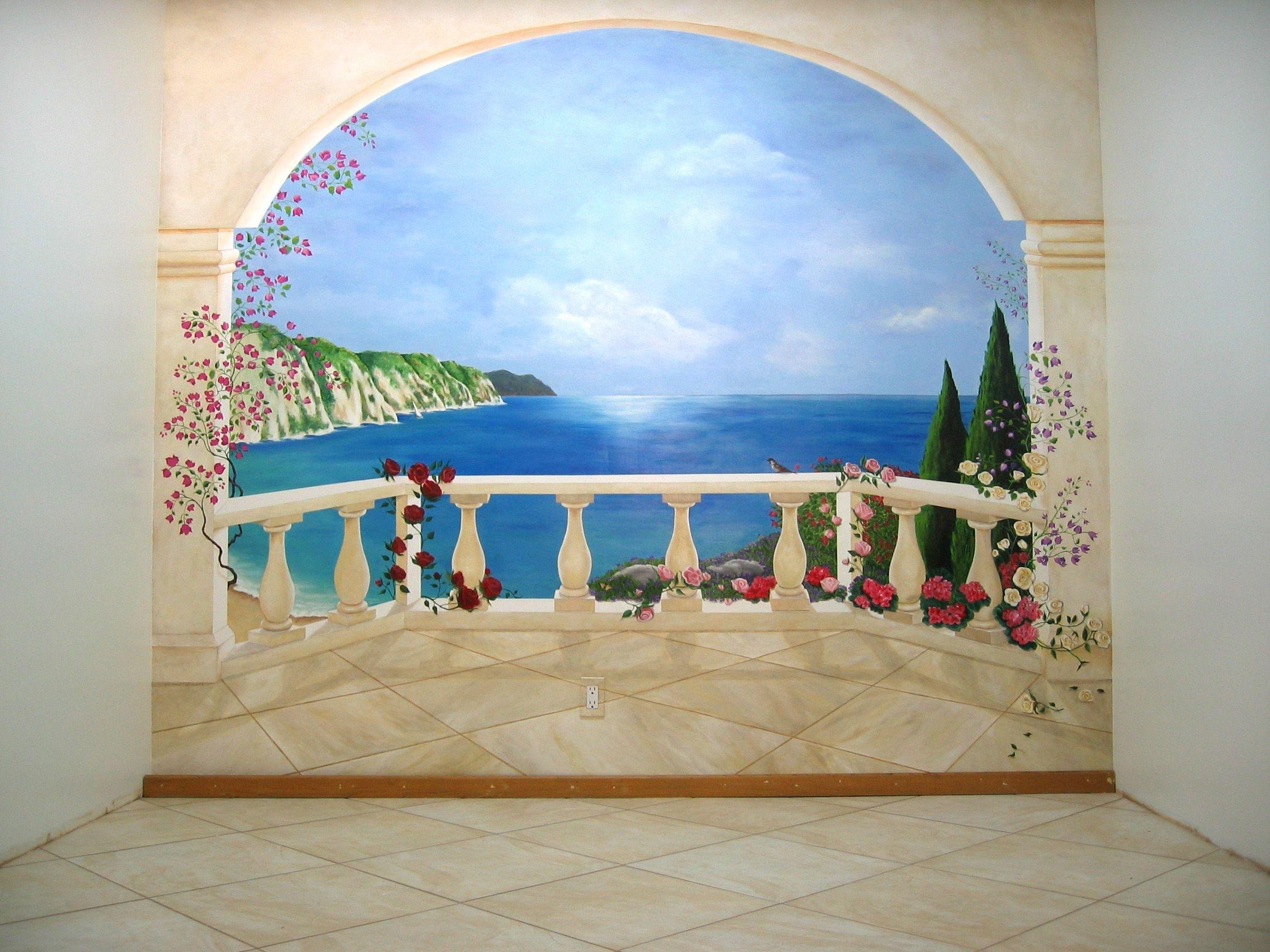 Oeil Trompe Wall Mural (View 10 of 15)