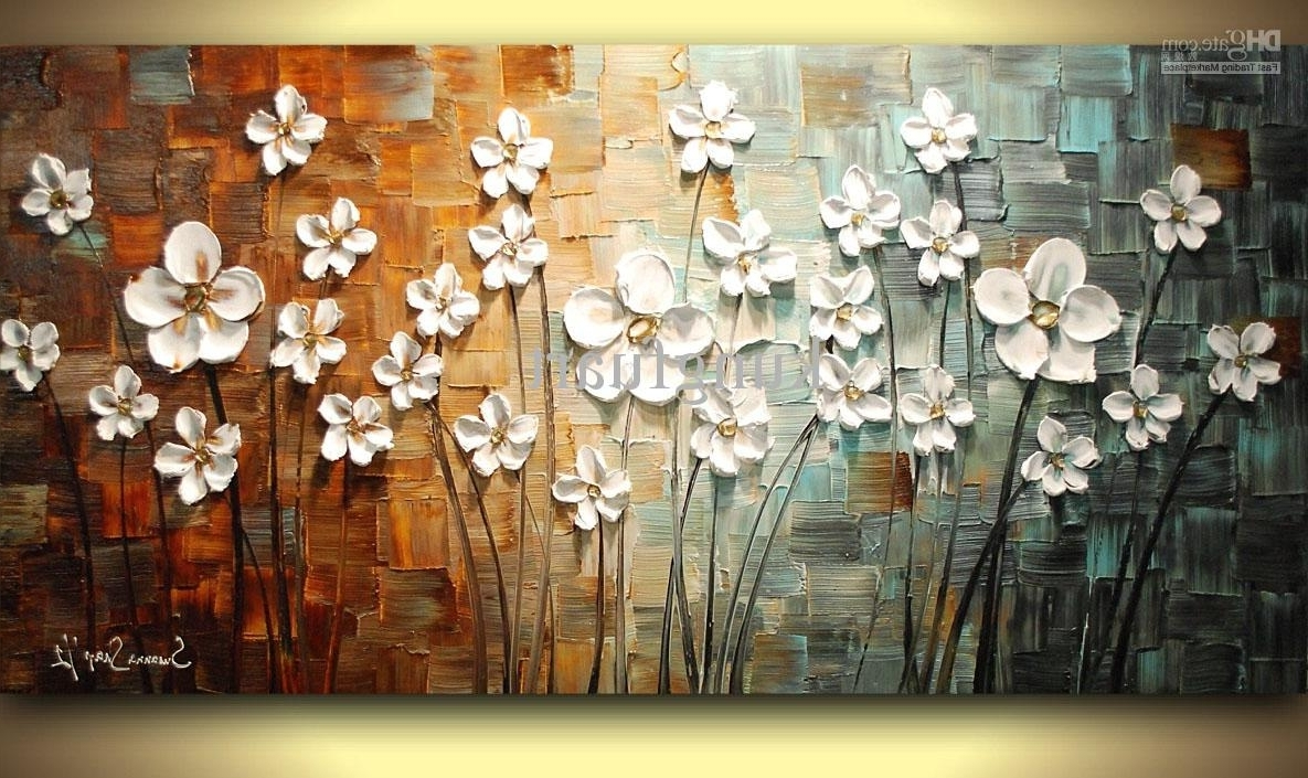 Oil Painting Wall Art On Canvas Intended For Newest Wall Art Designs: Wall Art Painting Textured Framed Oil Painting (View 9 of 15)