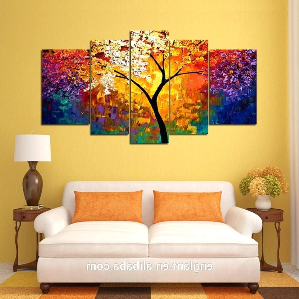 Oil Painting Wall Art On Canvas With Recent Wall Arts ~ Modern Abstract Huge Wall Art Oil Painting On Canvas (View 12 of 15)