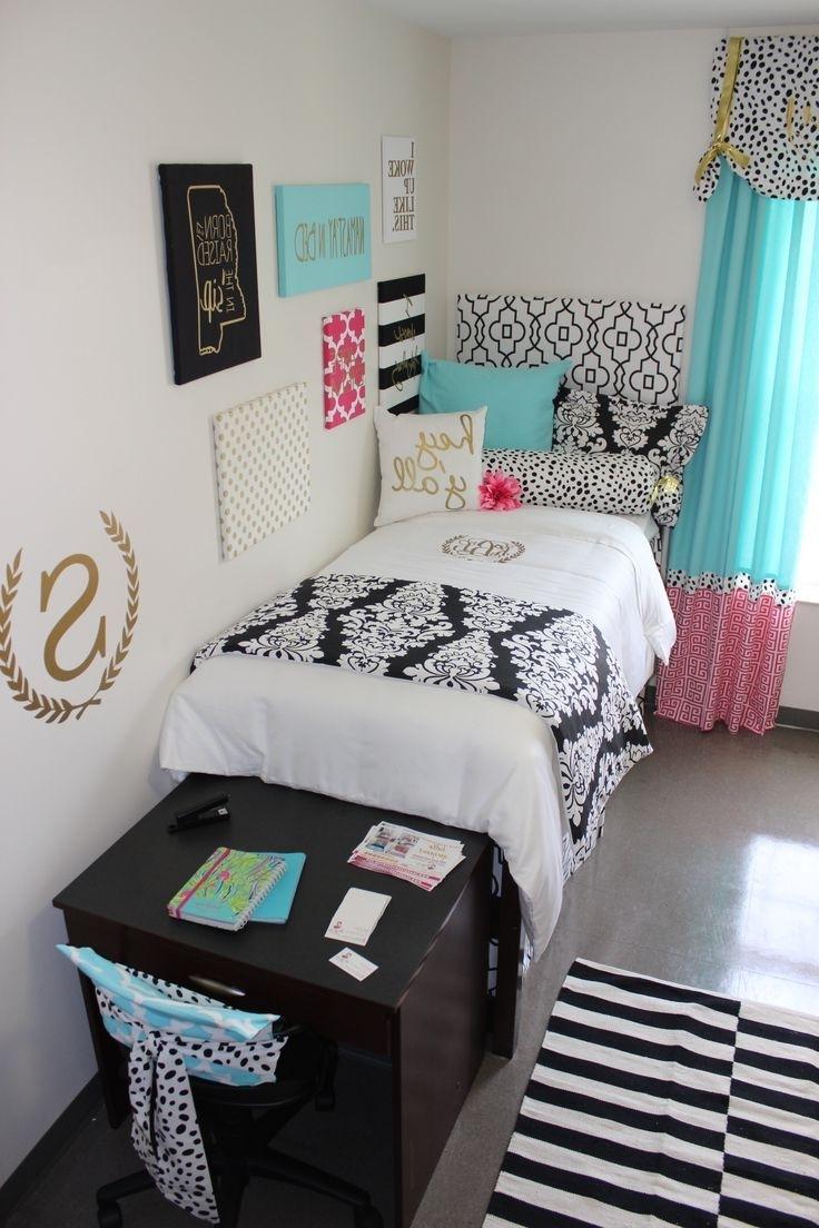 Ole Miss Dorm Room : Black Gold Tiffany Pink Dorm Room (View 12 of 15)