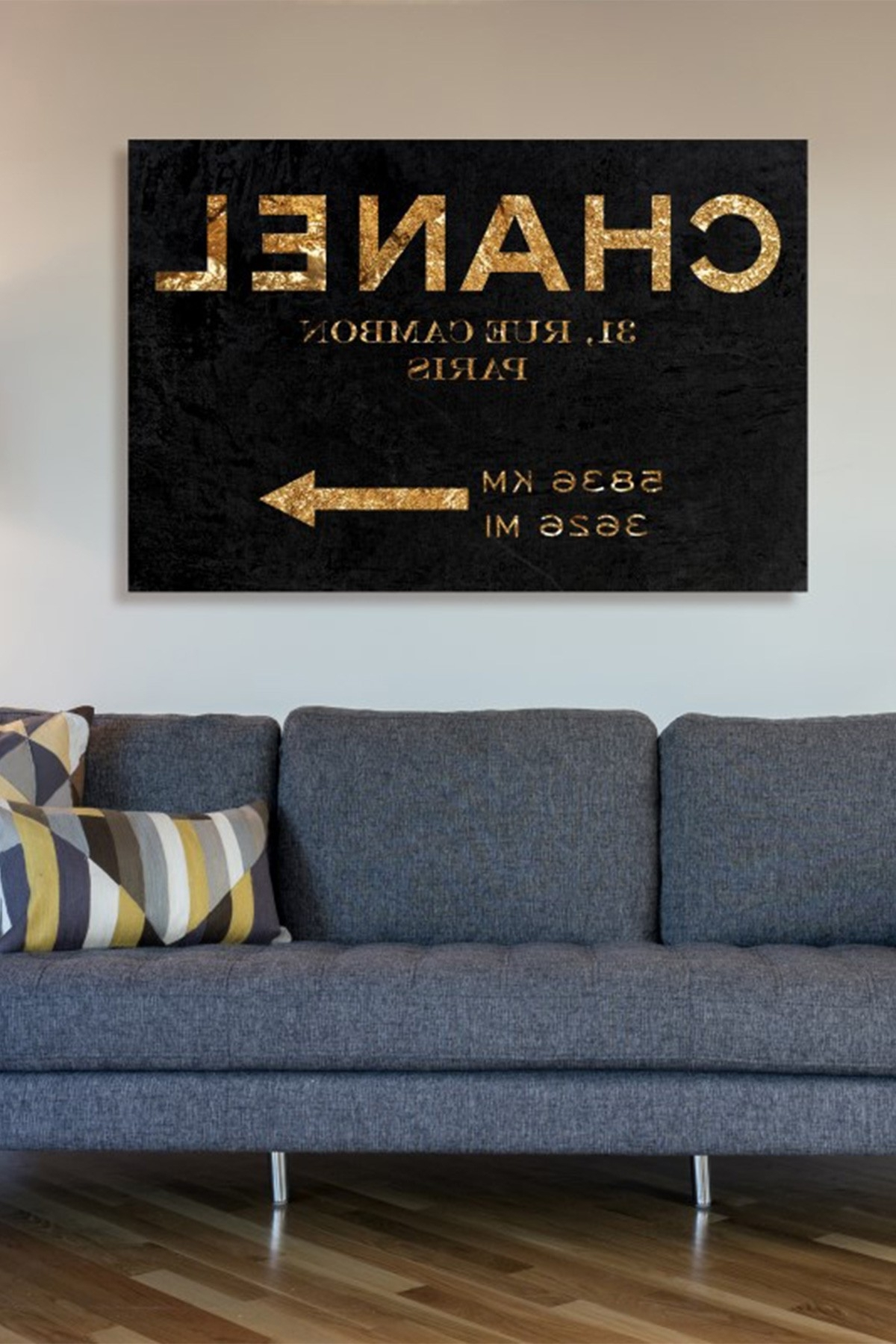Oliver Gal Couture Road Sign Night Canvas Wall Art On @hautelook Inside Well Known Chanel Wall Decor (Gallery 2 of 15)