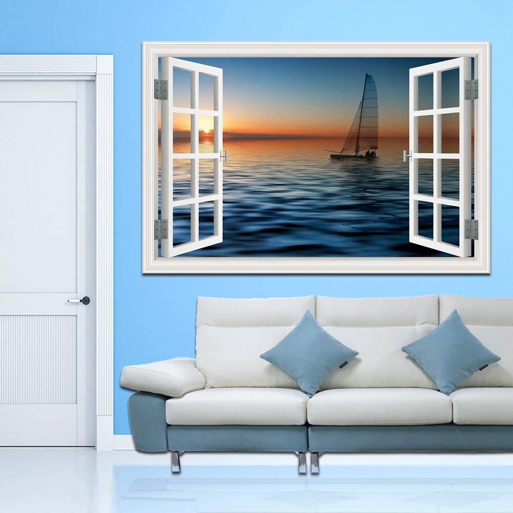 Online Buy Wholesale Home Decoration Sea 3D Wall Art From China Throughout Most Current 3D Wall Art Wholesale (View 12 of 15)