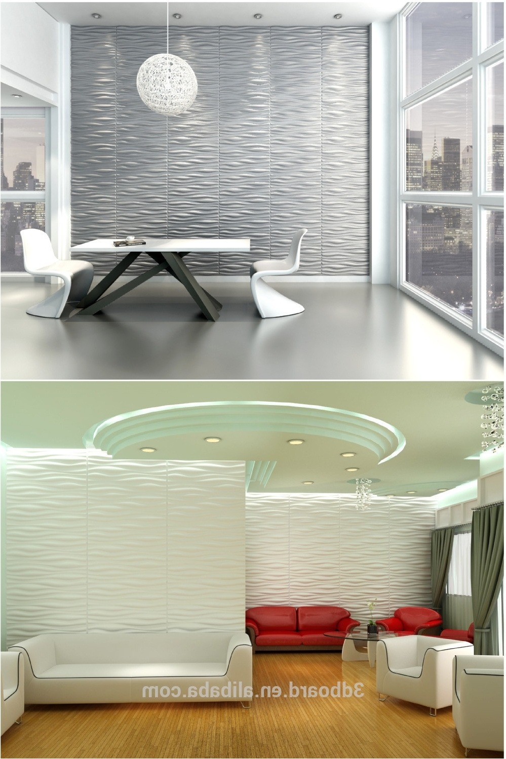 Online Wholesale Interior Wall Decorative Panel 3D Wall Covering In Trendy 3D Wall Covering Panels (Gallery 15 of 15)