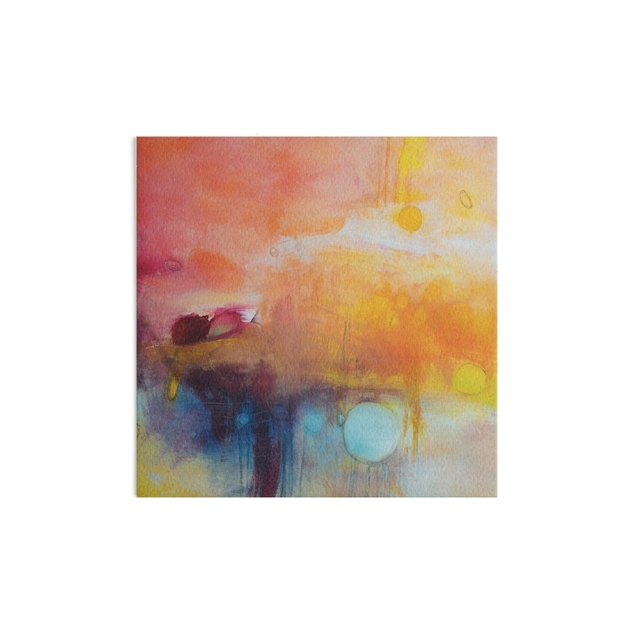 Orange And Blue Wall Art With Regard To Trendy Blue Lake,orange Abstract Giclee Print,orange Blue Giclee,abstract (View 11 of 15)
